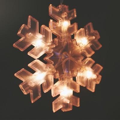 Χριστουγεννιάτικες Νυφάδες Φωτιζόμενες σε Κουρτίνα 72L