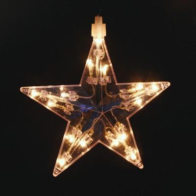 Κουρτίνα με 1 Μεγάλο και 70 Αστέρια Λευκό Επεκτεινόμενα Χριστουγεννιάτικα