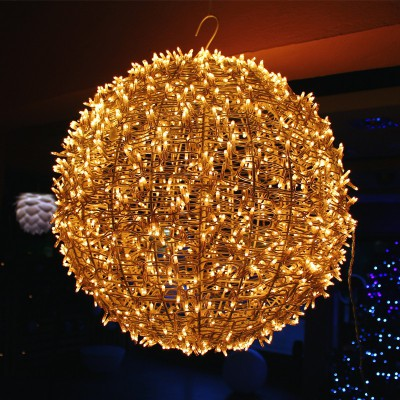 Μπάλα Χριστουγεννιάτικη 35cm γεμάτη με 300 Λαμπάκια!