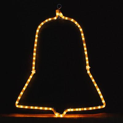 Καμπάνα Σχήματα Χριστουγεννιάτικα 2μ Κιτρινη