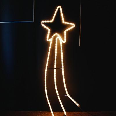 Αστέρι Κομήτης 3.5μ Φωτοσωλήνα Χριστουγεννιάτικο Λευκό