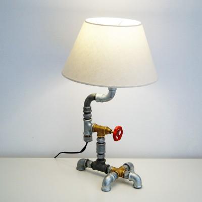 Matadi industrial επιτραπέζιο φωτιστικό από υδραυλικά εξαρτήματα