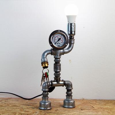 Mobutu industrial επιτραπέζιο φωτιστικό από υδραυλικά εξαρτήματα