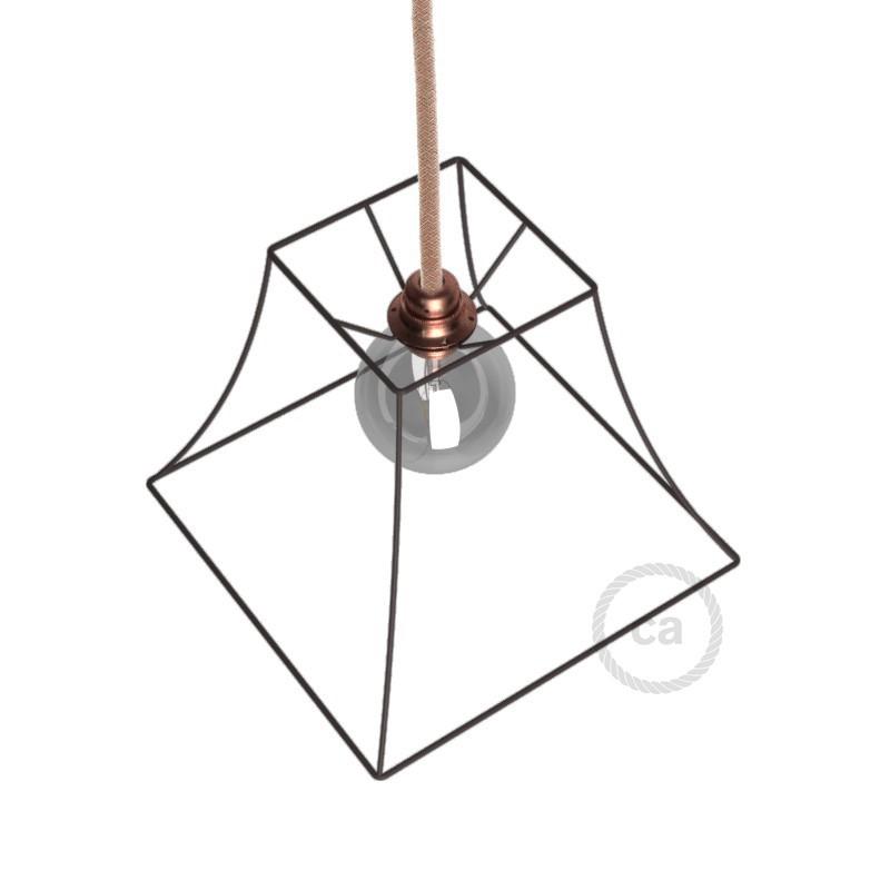 Μεταλλικό Πλαίσιο Φωτιστικό Πυραμίδα Ε27 Παλαιωμένο Μέταλλο