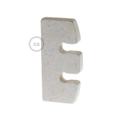 Ρυθμιστής ύψους και στήριξη καλωδίου σε Λευκό Ξύλο. Made in Italy.