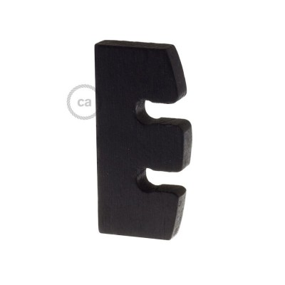 Ρυθμιστής ύψους και στήριξη καλωδίου σε Μαύρο Ξύλο. Made in Italy.