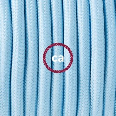 Κρεμαστό Πορσελάνης, με καλώδιο Υφασμάτινο Γαλάζιο Ρεγιόν RM17