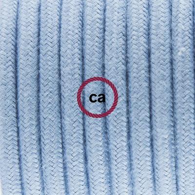 Κρεμαστό Πορσελάνης, με καλώδιο Υφασμάτινο Γαλάζιο Βαμβάκι RC53