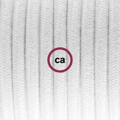Κρεμαστό Πορσελάνης, με καλώδιο Υφασμάτινο Λευκό Βαμβάκι RC01