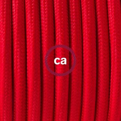 Κρεμαστό Πορσελάνης, με καλώδιο Υφασμάτινο Κόκκινο Ρεγιόν RM09