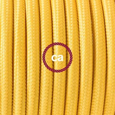 Κρεμαστό Πορσελάνης, με καλώδιο Υφασμάτινο Κίτρινο Ρεγιόν RM10