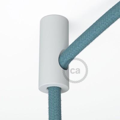 Στήριγμα Καλωδίου Λευκό με γάντζο και στοπ για υφασμάτινο καλώδιο