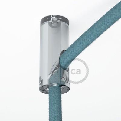 Στήριγμα Καλωδίου Διαφανές με γάντζο και στοπ για υφασμάτινο καλώδιο