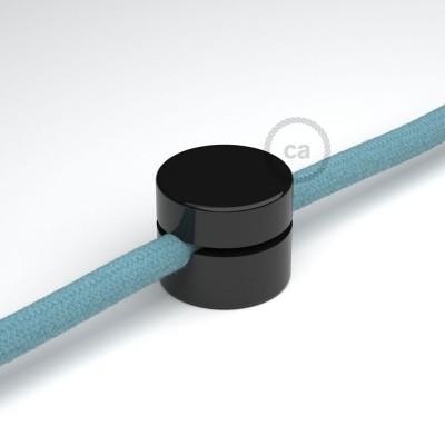 Universal Στήριγμα Τοίχου για Υφασμάτινο καλώδιο, Μαύρο