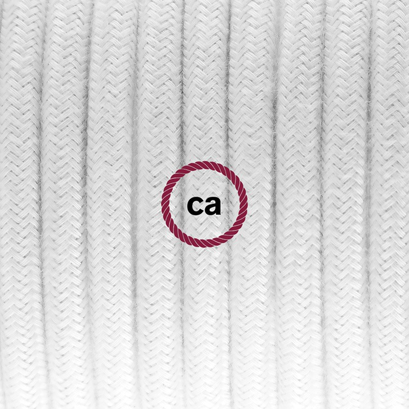 Βαμβακερό Καλώδιο, RC01 Λευκό - 1.80 m.