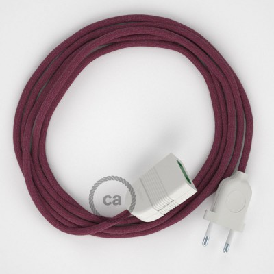 Προέκταση Διπολική με Μπορντώ Υφασμάτινο Καλώδιο από Βαμβάκι RC32. Made in Italy
