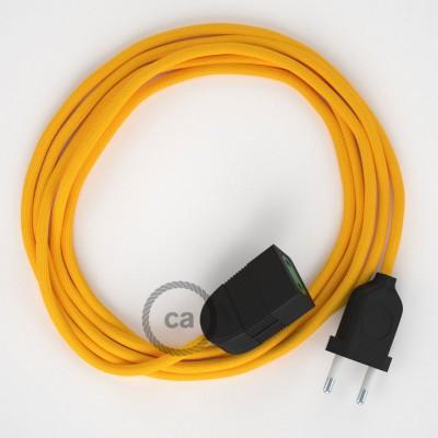 Προέκταση Διπολική με Κίτρινο Υφασμάτινο Καλώδιο από Ραιγιόν Μετάξι RM10. Made in Italy