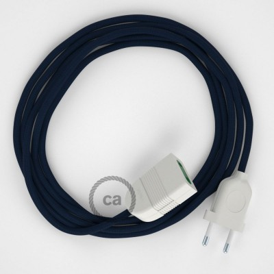 Προέκταση Διπολική με Σκούρο Μπλε Υφασμάτινο Καλώδιο από Ραιγιόν Μετάξι RM20. Made in Italy