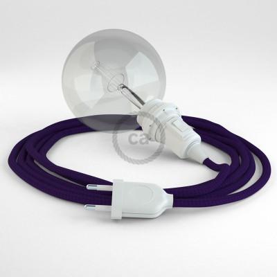Δημιουργήστε το δικό σας Φωτιστικό Snake για αμπαζούρ με καλώδιο RM14 Μωβ Ρεγιόν.