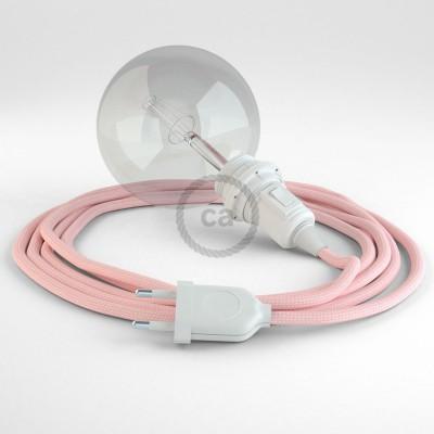 Δημιουργήστε το δικό σας Φωτιστικό Snake για αμπαζούρ με καλώδιο RM16 Ροζ Ρεγιόν.