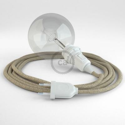 Δημιουργήστε το δικό σας Φωτιστικό Snake για αμπαζούρ με καλώδιο RN01 Μπεζ Φυσικό.