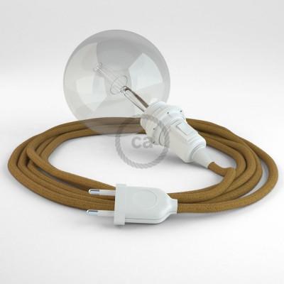 Δημιουργήστε το δικό σας Φωτιστικό Snake για αμπαζούρ με καλώδιο RC31 Μουσταρδί Βαμβάκι.