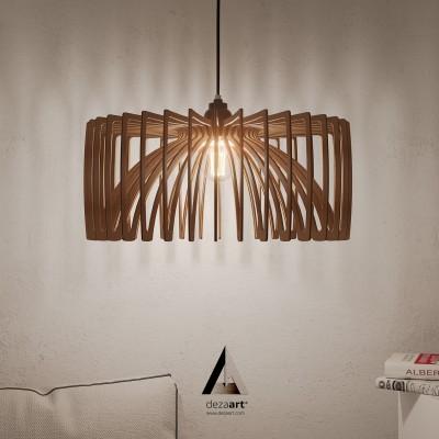 Ξυλινο Οικολογικό Φωτιστικό Κλουβί για Κρεμαστή λάμπα
