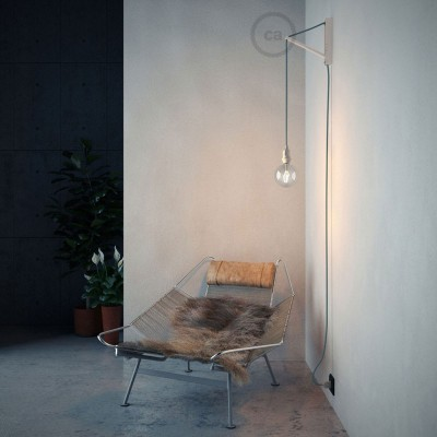 Pinocchio Λευκή Ξύλινη Βάση για τοίχο ιδανική για κρεμαστά φωτιστικά.