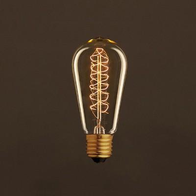 Διακοσμητικός Λαμπτήρας Edison, Αχλάδι ST58 30W E27 Σπιράλ νήμα Dimmable 2000K