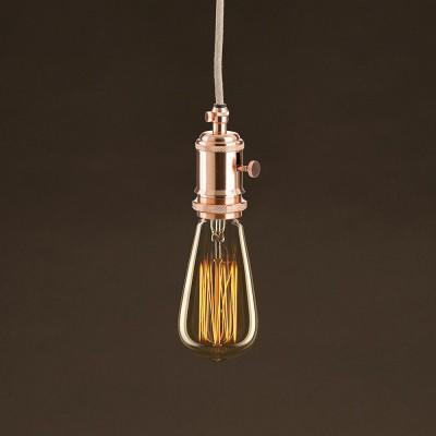Διακοσμητικός Λαμπτήρας Edison, Αχλάδι ST64 30W E27 Ίσιο νήμα Dimmable 2000K