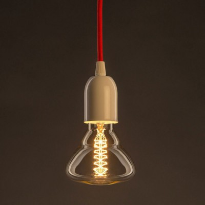 Διακοσμητικός Λαμπτήρας Edison, Διαμάντι BR95 30W E27 Διπλό σπιράλ νήμα Dimmable 2000K