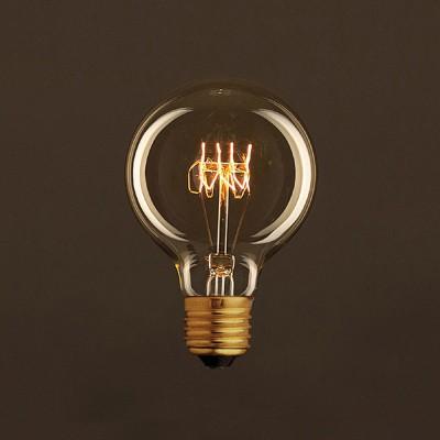 Διακοσμητικός Λαμπτήρας Edison, Γλόμπος G80 30W E27 Στριφτό νήμα Dimmable 2000K