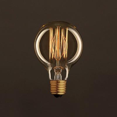 Διακοσμητικός Λαμπτήρας Edison, Γλόμπος G80 30W E27 Ίσιο νήμα Dimmable 2000K
