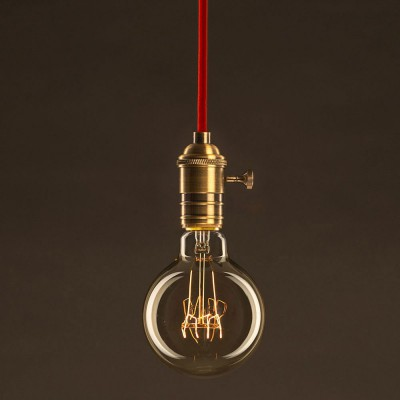 Διακοσμητικός Λαμπτήρας Edison, Γλόμπος G95 30W E27 Στριφτό νήμα Dimmable 2000K