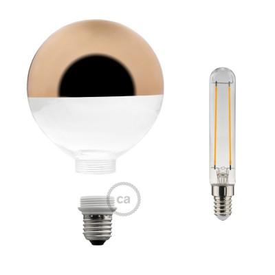 Αποσπώμενος Διακοσμητικός Λαμπτήρας LED E27 5W με χάλκινο ανεστραμένο καθρέφτη 2700K Dimmable
