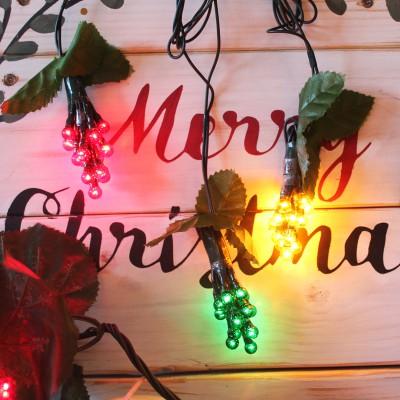 Σταφύλια Χριστουγεννιάτικα LED 2μ