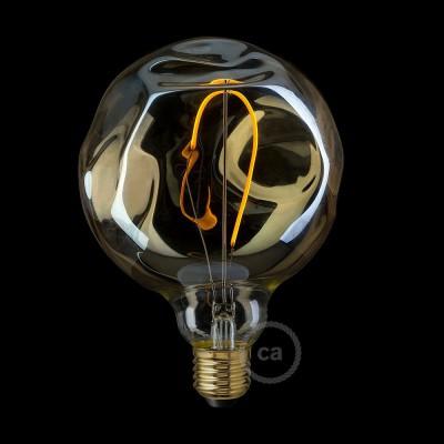 LED Λαμπτήρας Μελί Γυαλί - Γλόμπος Filament με φυσητό γυαλί ακανόνιστο σχήμα - 2.5W E27 Διακοσμητικός Vintage 2000K