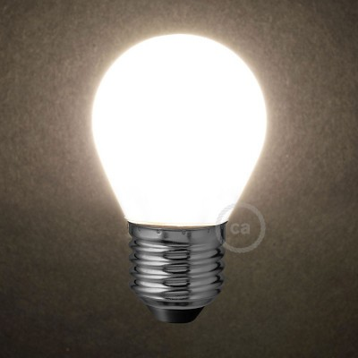 LED Λαμπτήρας Οπάλ Λευκό - Mini Γλόμπος G45 - 4W E27 Dimmable 2700K
