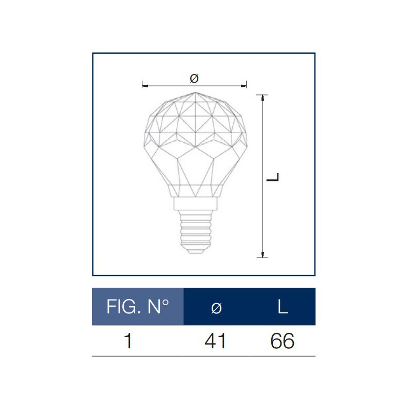 Σφαιρική Λάμπα Ε14 Leuci Crystal – Decorative LED Bulb
