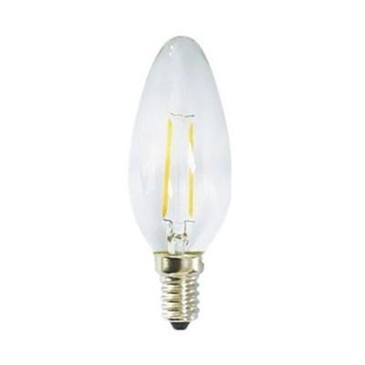 Λαμπτήρας Led E14 Κερί με νήμα 4W Διαφανής Dimmable