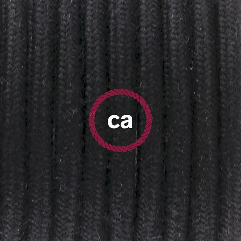 Κρεμαστό Φωτιστικό, κρεμαστή λάμπα με Μαύρο Καλώδιο Βαμβάκι RC04