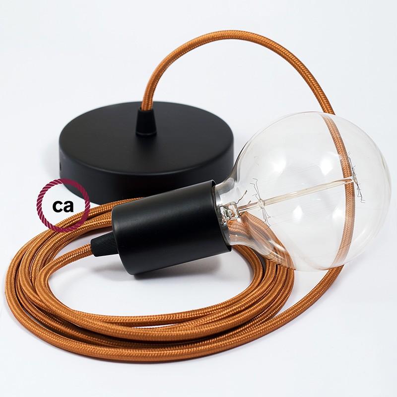 Κρεμαστό Φωτιστικό, κρεμαστή λάμπα με Ουίσκι Υφασμάτινο Καλώδιο Βαμβάκι RM22