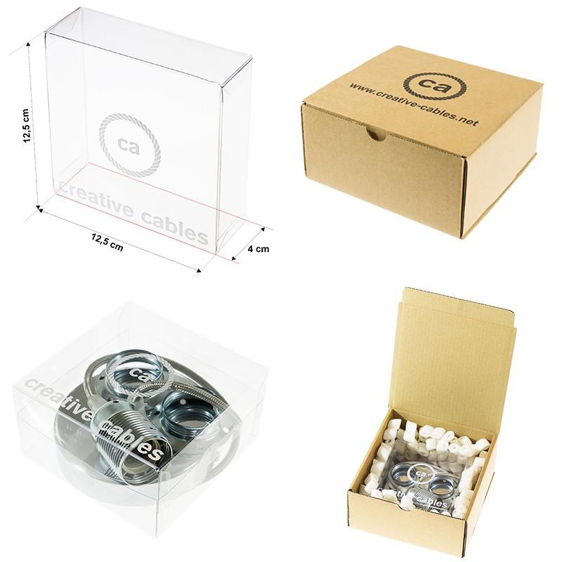 Κρεμαστό Φωτιστικό, Κρεμαστή Λάμπα με Λευκό Glitter Υφασμάτινο Καλώδιο RL01