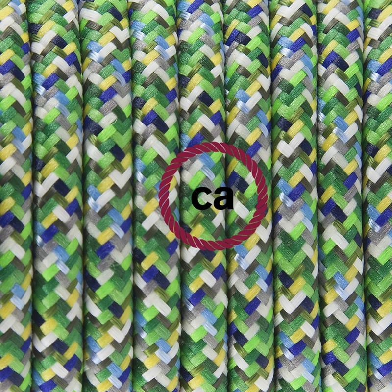 Κρεμαστό Φωτιστικό, Κρεμαστή Λάμπα με Pixel Πράσινο Υφασμάτινο Καλώδιο RX05