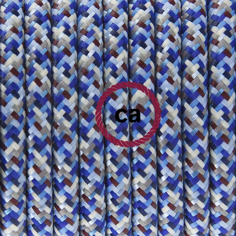 Κρεμαστό Φωτιστικό, Κρεμαστή Λάμπα με Pixel Γαλάζιο Υφασμάτινο Καλώδιο RX03