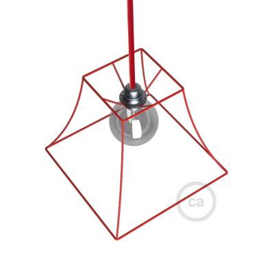 Μεταλλικό Πλαίσιο Φωτιστικό Πυραμίδα Ε27 Κόκκινο