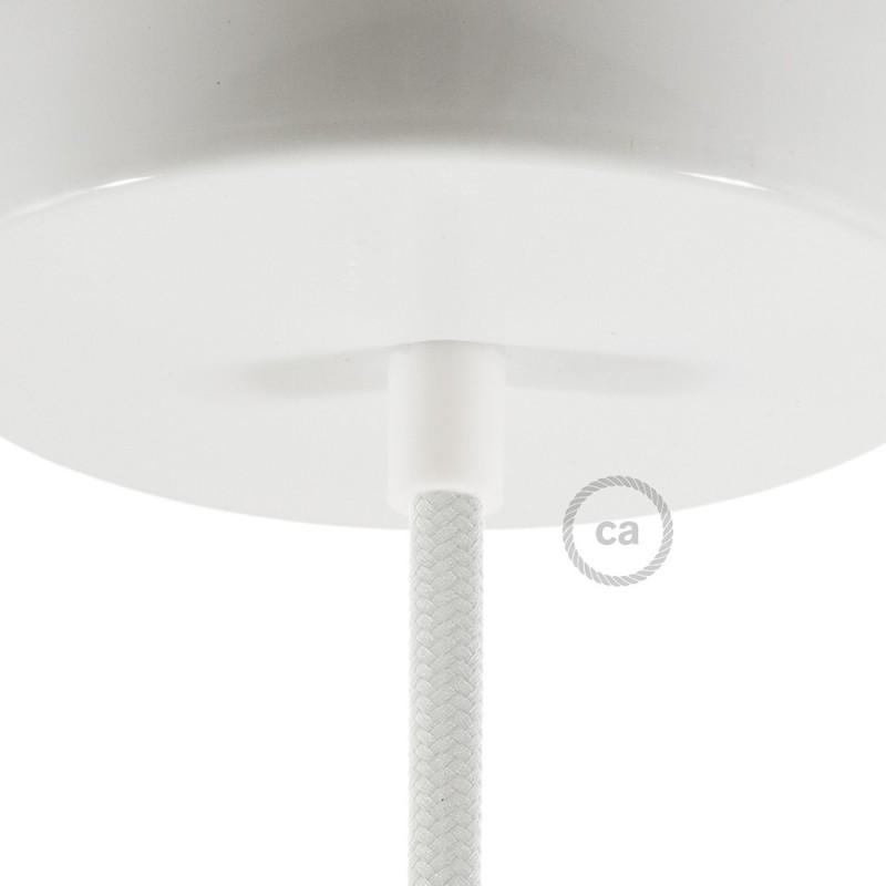 Λευκό πλαστικό στήριγμα οροφής μαζί με μαστό, παξιμάδι και ροδέλα.