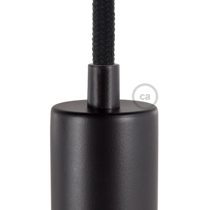 Μαύρο πλαστικό στήριγμα οροφής μαζί με μαστό, παξιμάδι και ροδέλα.