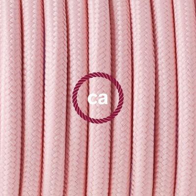 Κρεμαστό Πορσελάνης, με καλώδιο Υφασμάτινο Ροζ Ρεγιόν RM16