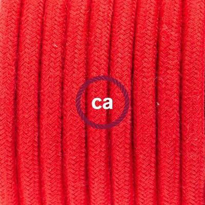 Κρεμαστό Πορσελάνης, με καλώδιο Υφασμάτινο Κόκκινο Βαμβάκι RC35